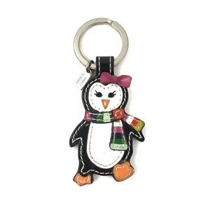 Coach | Penguin Keychain Patent Leather Fob Charm